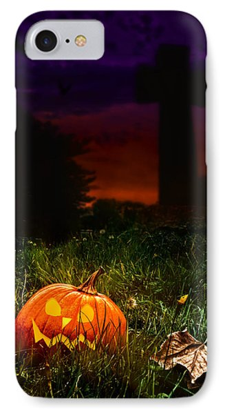 Halloween Cemetery IPhone Case by Amanda Elwell