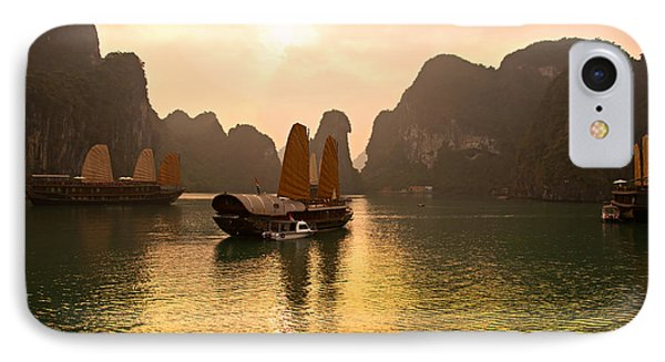 IPhone Case featuring the photograph Halong Bay - Vietnam by Luciano Mortula