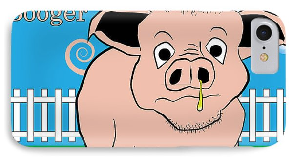 IPhone Case featuring the digital art Ham Booger by John Crothers