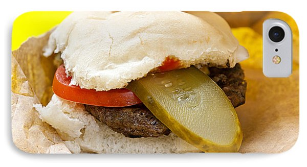 Hamburger With Pickle And Tomato IPhone Case