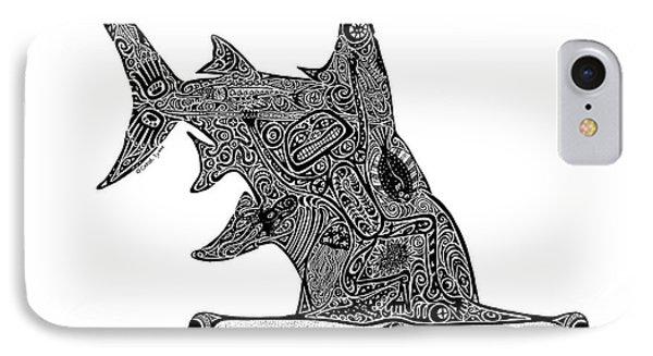 Hammerhead Shark IPhone Case by Carol Lynne