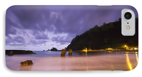 Hana Bay Afterdark  IPhone Case by Dustin K Ryan