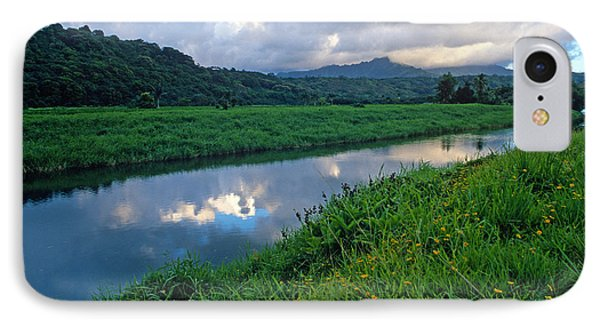 Hanalei River Reflections Phone Case by Kathy Yates