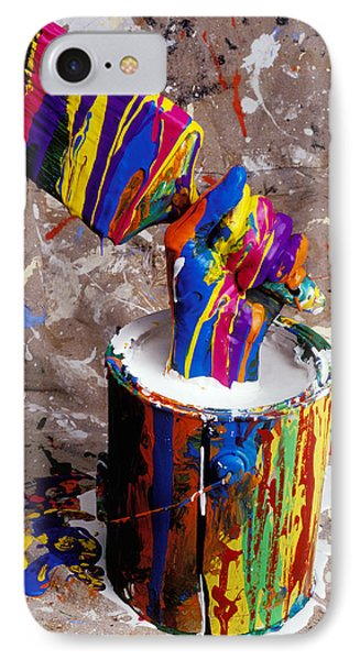 Hand Coming Out Of Paint Bucket IPhone Case