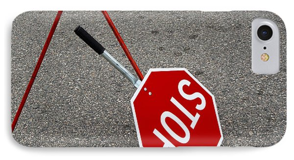 Handheld Stop Sign Phone Case by Marlene Ford