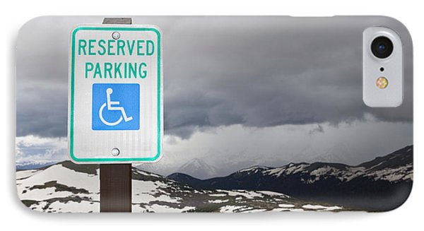 Handicap Parking Sign At A National Park Phone Case by Bryan Mullennix