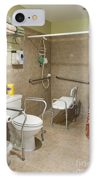 Handicapped-accessible Bathroom Phone Case by Andersen Ross