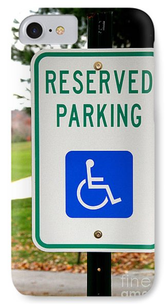 Handicapped Parking Sign Phone Case by Photo Researchers