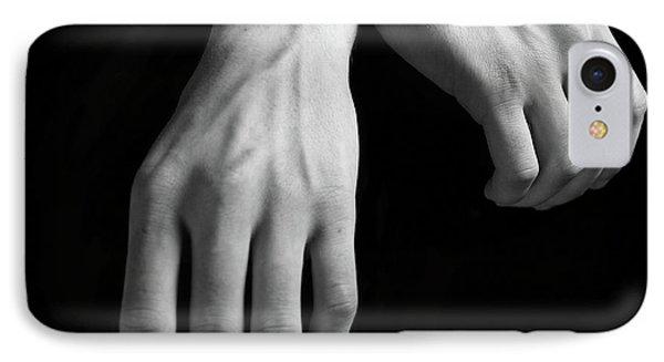 Hands Study IPhone Case by Gabriela Insuratelu