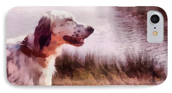 Handsome Hunter. English Setter Phone Case by Jenny Rainbow