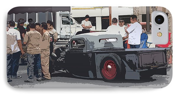 Hanging At The Car Show Phone Case by Steve McKinzie