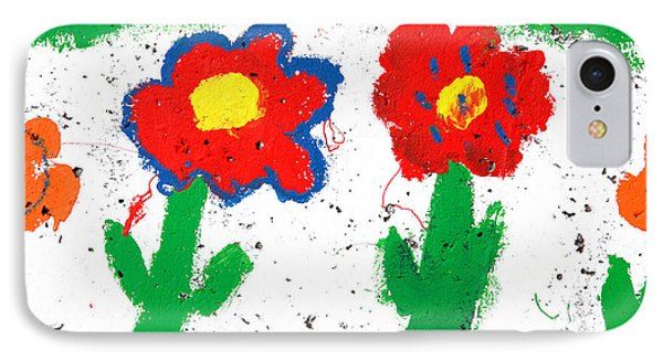 Happy Colorful Flowers Phone Case by Gaspar Avila