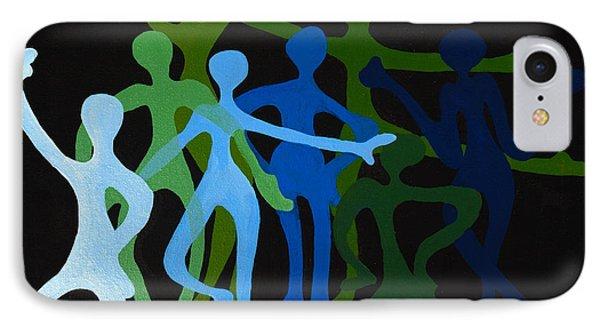 Happy Dancers Phone Case by Michelle Wiarda