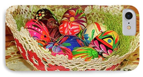 Happy Easter Basket Phone Case by Mariola Bitner