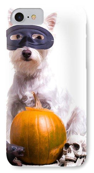 Happy Halloween Dog IPhone Case by Edward Fielding