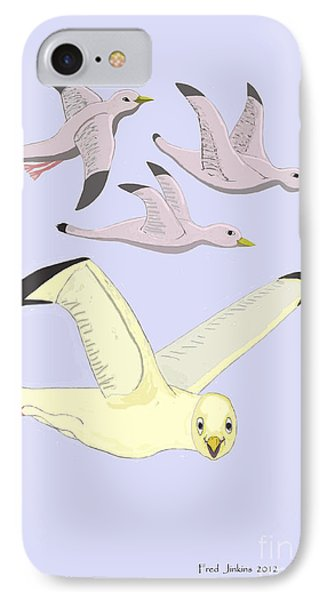 Happy Seagulls Phone Case by Fred Jinkins