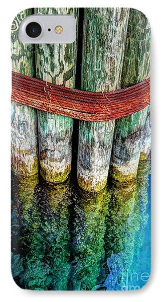 Harbor Dock Posts Phone Case by Michael Garyet