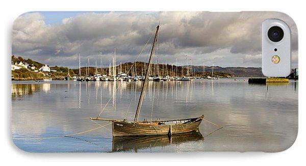 Harbour In Tarbert Scotland, Uk IPhone Case by John Short