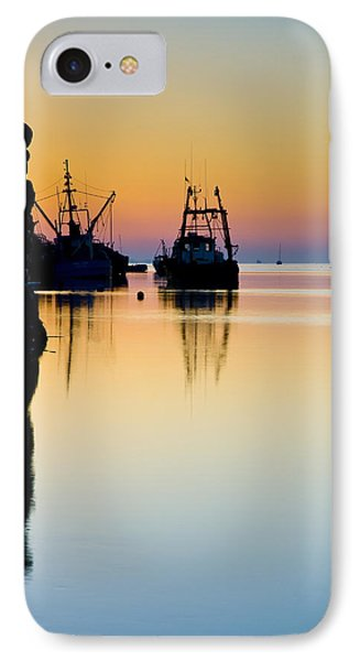 IPhone Case featuring the photograph Harbour Sunrise by Trevor Chriss
