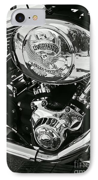 Harley Davidson Bike - Chrome Parts 02 IPhone Case by Aimelle