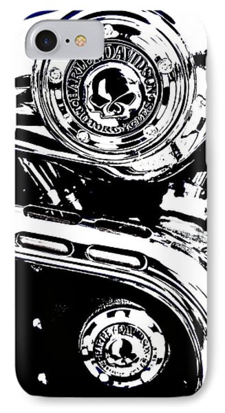 IPhone Case featuring the photograph Harley Skulls by Randall  Cogle