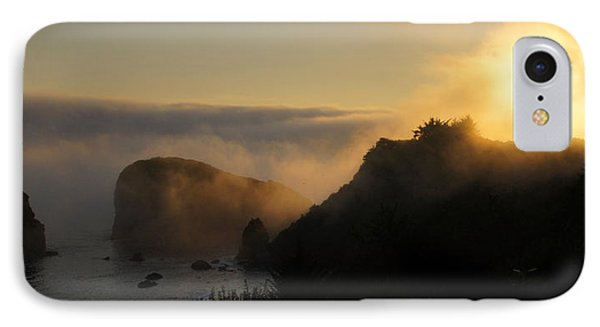 IPhone Case featuring the photograph Harris Beach Sunset Panorama by Mick Anderson