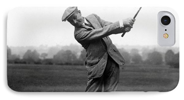 IPhone Case featuring the photograph Harry Vardon Swinging His Golf Club by International  Images