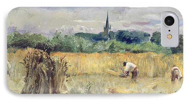 Harvest Field At Stratford Upon Avon Phone Case by John William Inchbold