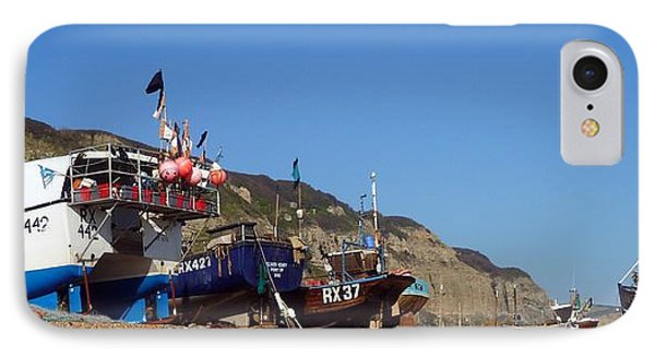 Hastings Fishing Fleet Phone Case by Sharon Lisa Clarke
