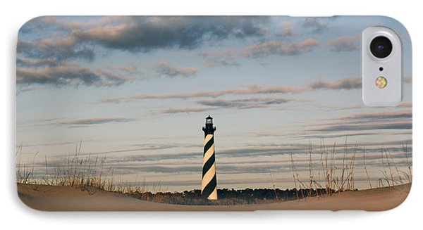 Hatteras Lighthouse And The Smiling Dune IPhone Case by Tony Cooper
