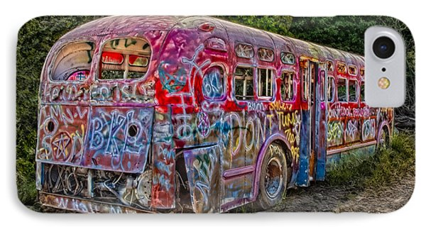 Haunted Graffiti Bus II Phone Case by Susan Candelario