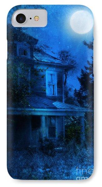 Haunted House Full Moon Phone Case by Jill Battaglia