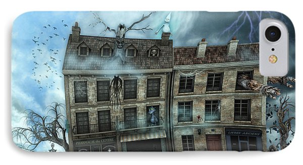Haunted House IPhone Case by Jutta Maria Pusl