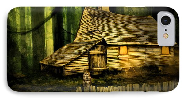 Haunted Shack Phone Case by Lourry Legarde