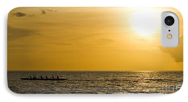 Hawaiian Outrigger Canoe Sunset IPhone Case by Dustin K Ryan