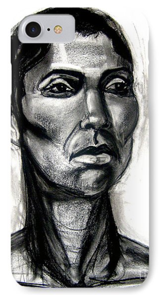IPhone Case featuring the drawing Head Study by Gabrielle Wilson-Sealy