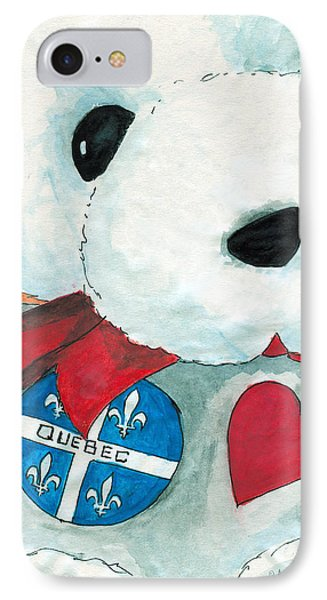 Heart Quebec Bear IPhone Case by Ana Tirolese