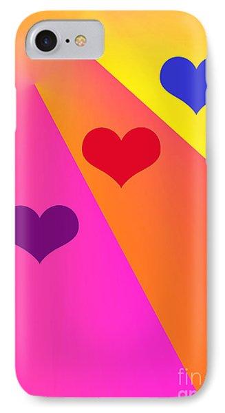 Heartbeams Phone Case by Susan Stevenson