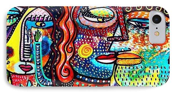 Heartbreak Dance Phone Case by Sandra Silberzweig