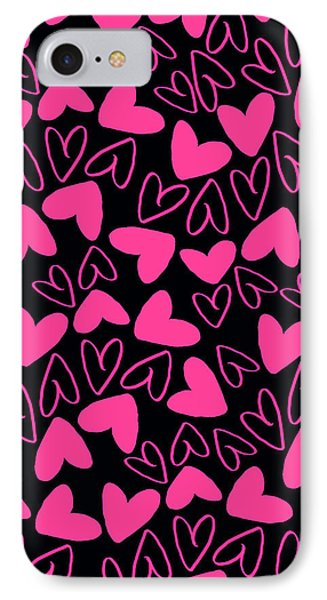 Hearts Phone Case by Louisa Knight
