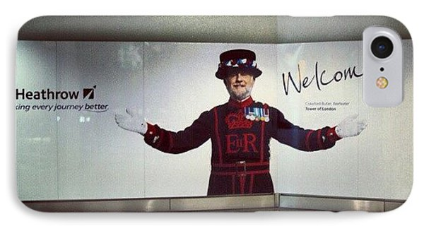 London iPhone 7 Case - #heathrow #airport #london #welcome by Abdelrahman Alawwad