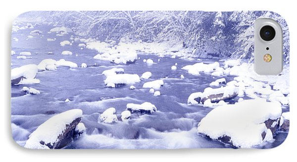 Heavy Snow Cranberry River Phone Case by Thomas R Fletcher