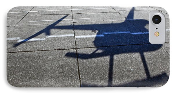 Helicopter Shadow Phone Case by Francis Zera