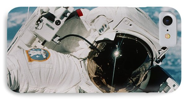 Helmet Of Astronaut Mccandless IPhone Case by NASA / Science Source