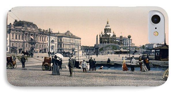 Helsinki Finland - Senate Square Phone Case by Bode Stevenson
