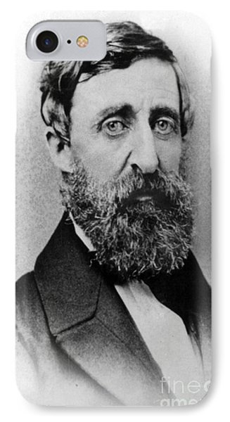 Henry David Thoreau, American Author IPhone Case by Photo Researchers