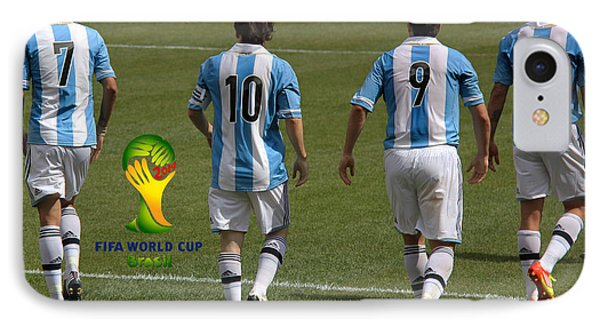 Here We Come Lionel Messi Fifa 2014 IPhone Case by Lee Dos Santos