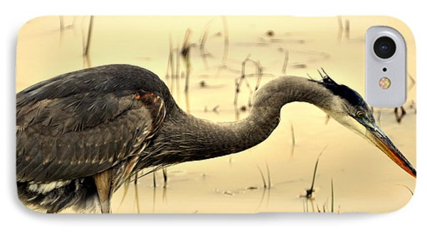 Heron Fishing Phone Case by Marty Koch