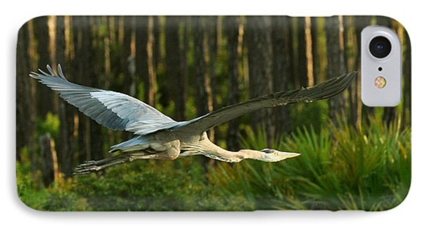 IPhone Case featuring the photograph Heron In Flight by Rick Frost