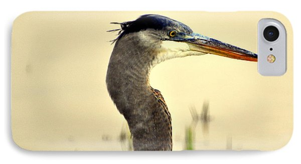 Heron One Phone Case by Marty Koch